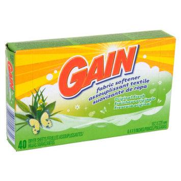 Gain Original Fresh Fabric Softener Dryer Sheets - 34 ct