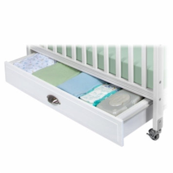 Child Craft Storage Drawer for Professional Child Care Compact Crib, White, 1 ea