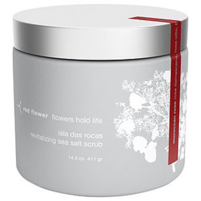 red flower revitalizing sea salt scrub