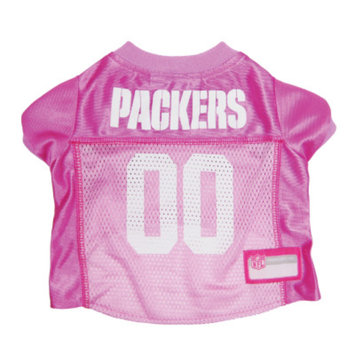 Doggie Nation.com Green Bay Packers Pink Dog Jersey Large