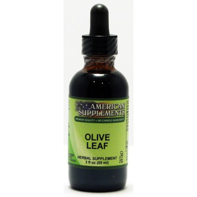 Olive Leaf No Chinese Ingredients American Supplements 2 oz Liquid