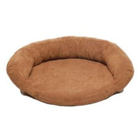 Hayneedle Habitats Small Protector Pad with Bolster Pet Bed - Chocolate-DISCONTINUED