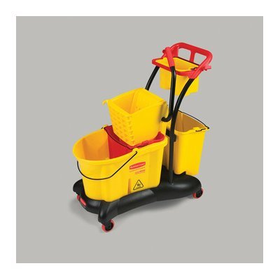 Rubbermaid Commercial Products WaveBrake Mopping Trolley Down Press
