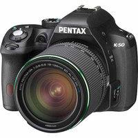 Pentax K-50 Digial SLR Camera with 18-135 WR Lens, Black