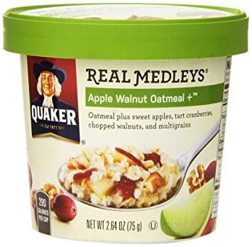 Quaker® Real Medleys Oatmeal Apple Walnut