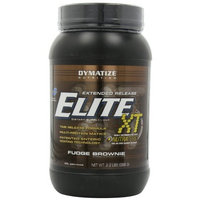 Dymatize Nutrition Extended Release Elite, Fudge Brownie, 2.2 Pound