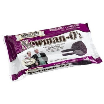 Newman's Own man's Own Organics Newman O's, Wheat-Free, Dairy-Free Creme Filled Chocolate Cookies , 9-Ounce Packages (Pack of 6)Show More +