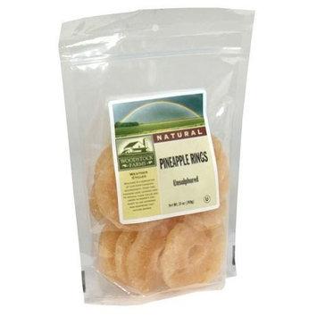 Woodstock Farms Woodstock Low Sugar Unsulphured Pineapple Slices 13 oz. (Pack of 8) ( Value Bulk Multi-pack)