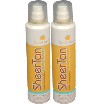 SheerTan Sunless Tanning - 2 Pak Tanning Spray - Self-Tanning at home for your perfect indoor tan. Wand Sold with Starter Set Only