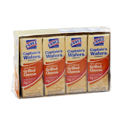 Lance Captain's Wafers Grilled Cheese Crackers - 8 CT