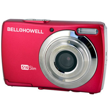 Bellhowell Bell & Howell S16R Red Digital Camera Ultra Slim 16Megapixels