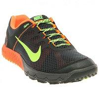 NIKE Zoom Wildhorse Men's Trail Running Shoes [Black Spruce/Total Orange/Flash Lime, 9.5 D(M) US]