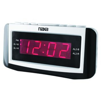 Naxa NRC-171 Digital Alarm Clock with AM/FM Radio