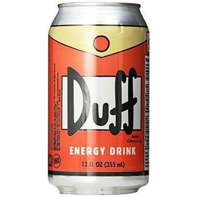 Duff Energy Drink, Orange, 12-Ounce Cans (Pack of 24)