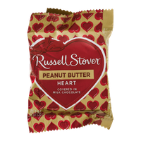 Russell Stover Peanut Butter Heart in Milk Chocolate