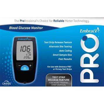 Omnis Health ALL01AM0200 Embrace Pro Blood Glucose Meter - 500 test Memory