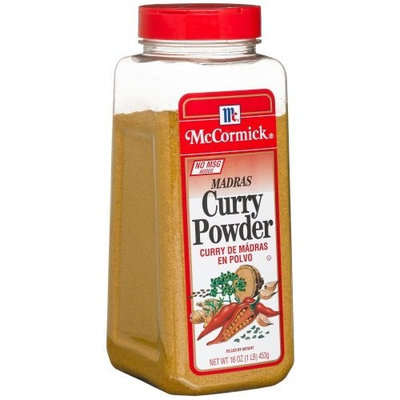 McCormick Madras Curry Powder, 16-Ounce Plastic Bottle (Pack of 2)
