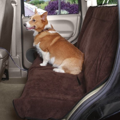 Guardian Gear Polyester Heated Dog Car Seat Cover, Chocolate