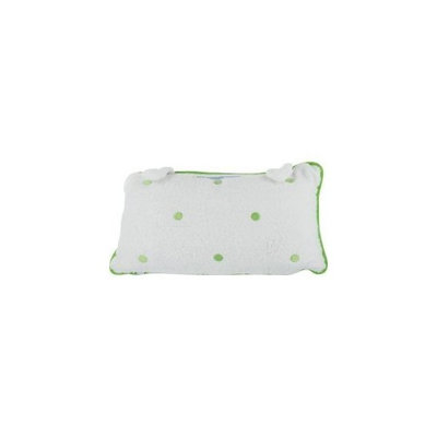Spa Sisters Terry Bath Pillow, Dots Green