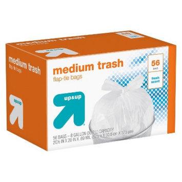 up & up Fresh Scent Medium Flap-Tie Closure Trash Bags 8 gal 56 ct