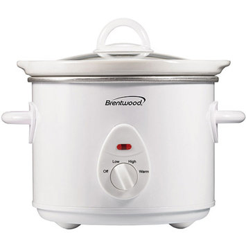 Brentwood SC-135W 3qt Slow Cooker, White Body