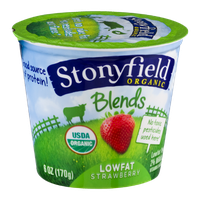 Stonyfield Organic Blends Lowfat Yogurt Cup Strawberry