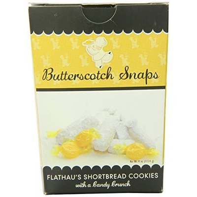Flathau's Fine Foods Butterscotch Snaps, 4-Ounce Boxes (Pack of 12)