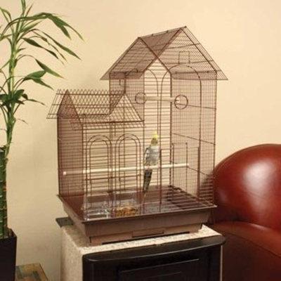 Petco Designer Brown Ranch Style Top Cockatiel Cage