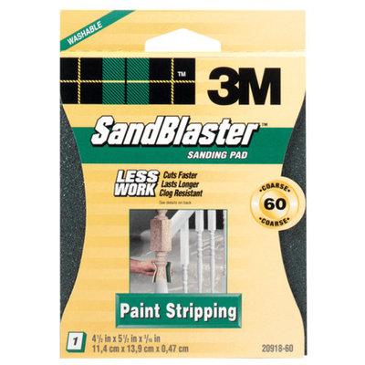 3M 3m 20918-60 60 Grit SandBlaster Paint Stripping Sanding Sponge Pad