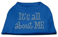 Mirage Pet Products 52-03 LGBL Its All About Me Rhinestone Shirts Blue Lg - 14