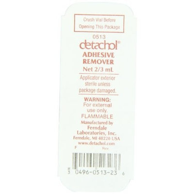 Detachol Adhesive Remover 2/3 cc Vials (by the Each)