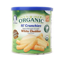 Gerber® Lil' Crunchies, Baked Whole Grain Corn Snack, White Cheddar