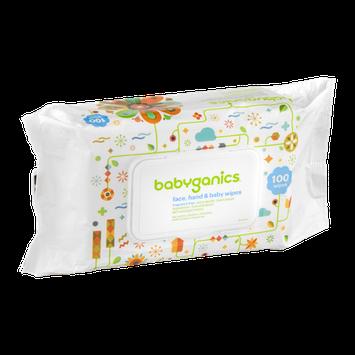 Babyganics Face, Hand & Baby Wipes Fragrance Free - 100 CT
