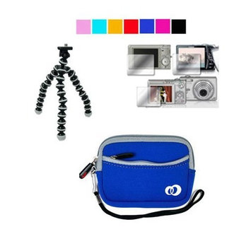 VangoddyTM Mini Glove Camera Case for Canon PowerShot A495 A490 A3100IS A480 + Screen Protector + Tripod