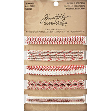 Leeco Industries Inc. Idea-Ology Naturals Trimmings 5 Styles/1 Yard Each Red/Cream