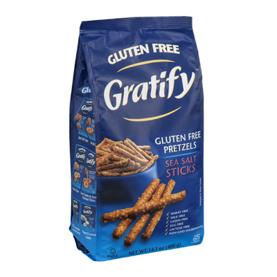 Gratify Gluten Free Pretzels Sea Salt Sticks