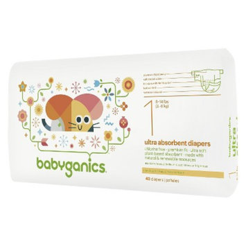BabyGanics Disposable Diapers Size 1 (40 Count)