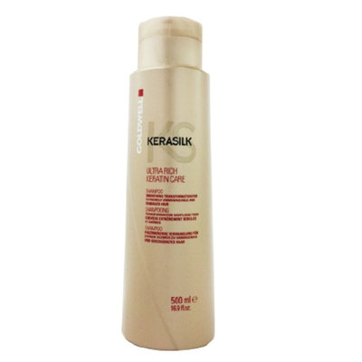 Goldwell Kerasilk Ultra Rich Care Shampoo for Extremely Dry, Damaged & Unmanageable Hair, 16.9 fl oz