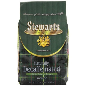 Stewarts Stewart's Coffee Ground Decaf Bagged, 12-Ounce (Pack of 3)