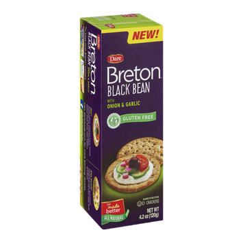 Breton Crackers Black Bean With Onion & Garlic