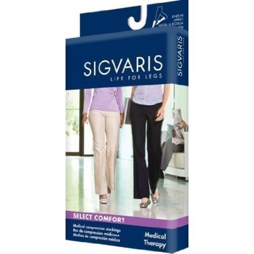 Sigvaris 860 Select Comfort Series 30-40 mmHg Women's Closed Toe Maternity Pantyhose - 863M Size: S3, Color: Black 99