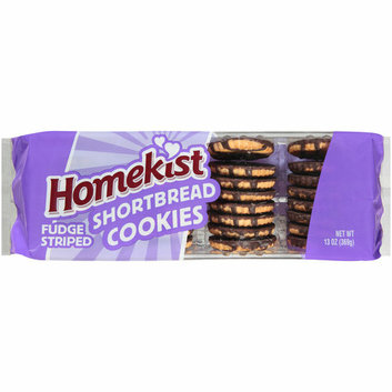 Homekist Fudge Striped Shortbread Cookies