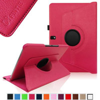 Fintie Vegan Leather 360 Degree Rotating Case Cover for Samsung Galaxy Note 10.1 2014 Edition Android Tablet, Magenta