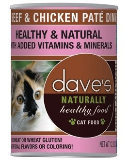 Dave's Pet Food Dave's Naturally Healthy Beef and Chicken Canned Cat Food