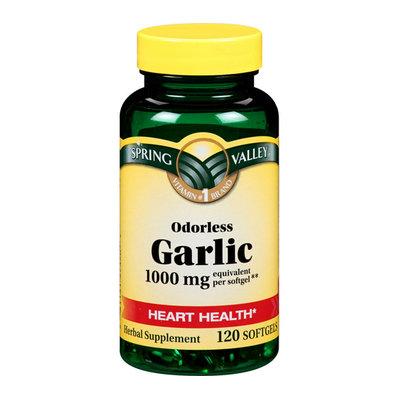 Spring Valley Odorless Garlic 1000Mg  Herbal Supplement Odorless Garlic 120