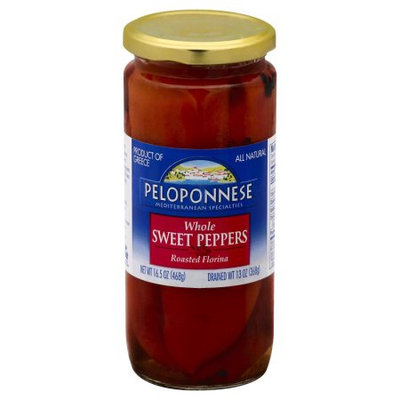 Peloponnese Whole Sweet Peppers, 13 OZ (Pack of 6)
