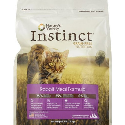 Instinct Grain Free Instinct Grain-Free Rabbit Meal Dry Cat Food by Nature's Variety, 2.2-Pound Package