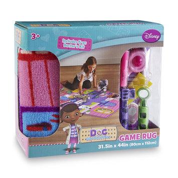 Disney Doc McStuffins Girl's Game Rug & Toy Doctor's Kit - G.A. GERTMENIAN & SONS