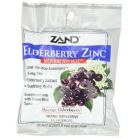 ZAND Herbalozenge Lozenges, Elderberry Zinc, 15 lozenge bag, 12 Count