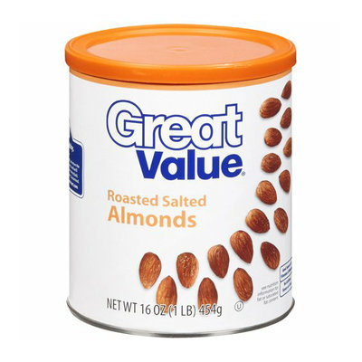 Great Value Roasted And Salted Almonds 16 Oz